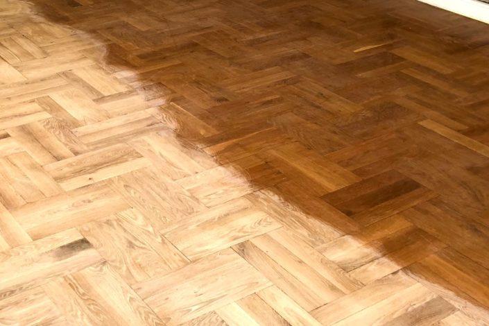 Böden abschleifen Holzfußboden